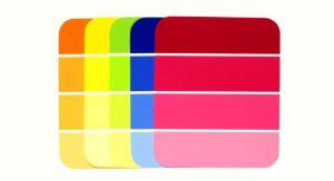 Round corner striped cards