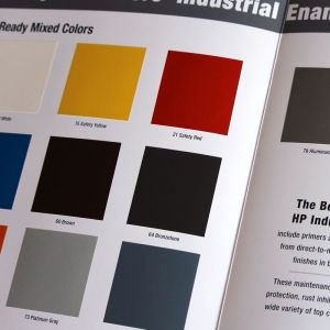 Safety Industrial Colors Color Card