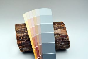 Color card with wood finish